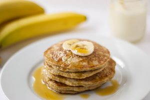 Banana oatmeal protein pancakes gluten free the wholesome fork save print ccuart Image collections