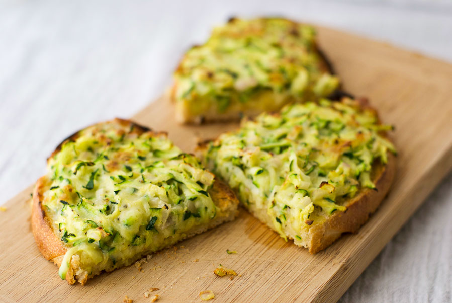 Zucchini Cheese on Toast - The Wholesome Fork