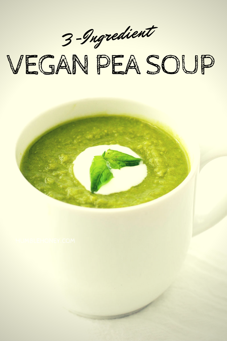 3 ingredient pea soup {vegan}