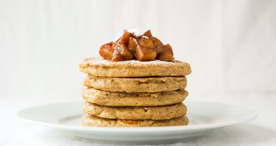 Apple pie pancakes {whole wheat}