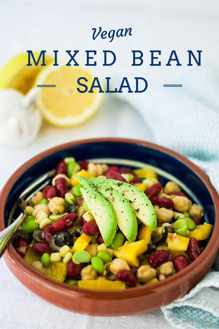 Mixed Bean Salad {Vegan}