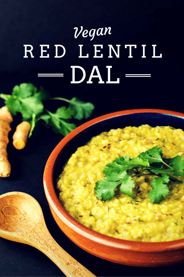 Red Lentil Dal {Vegan} - The Wholesome Fork