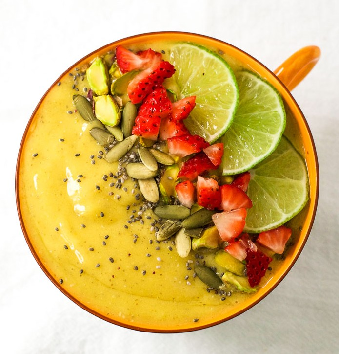 Tropical turmeric smoothie