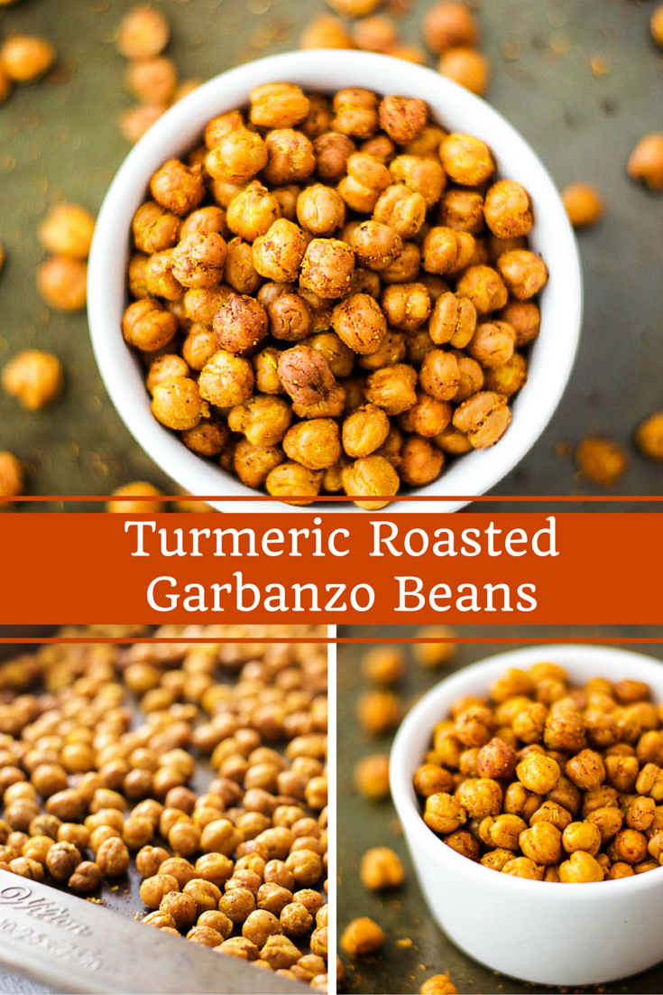 Turmeric roasted garbanzo beans
