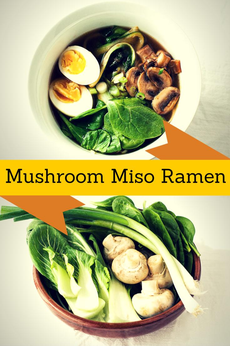 Mushroom miso ramen