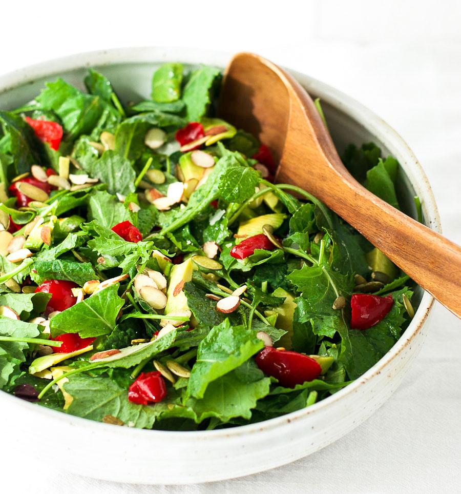 Simple lemon kale salad