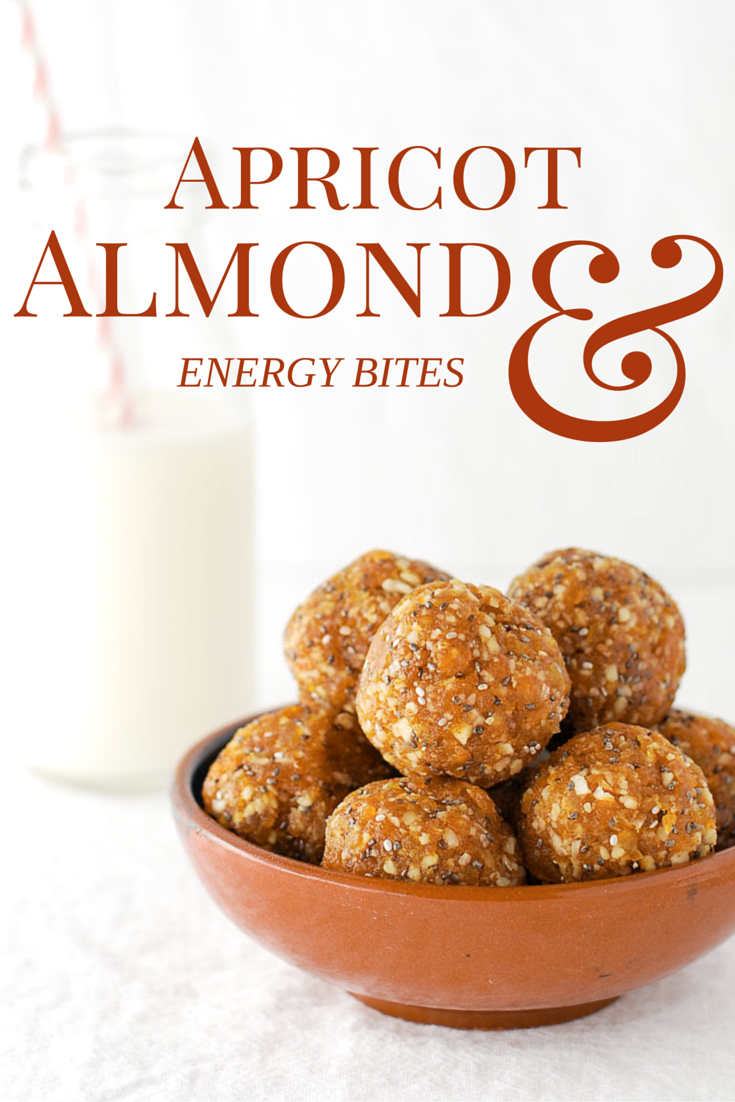 Apricot almond energy bites {vegan}