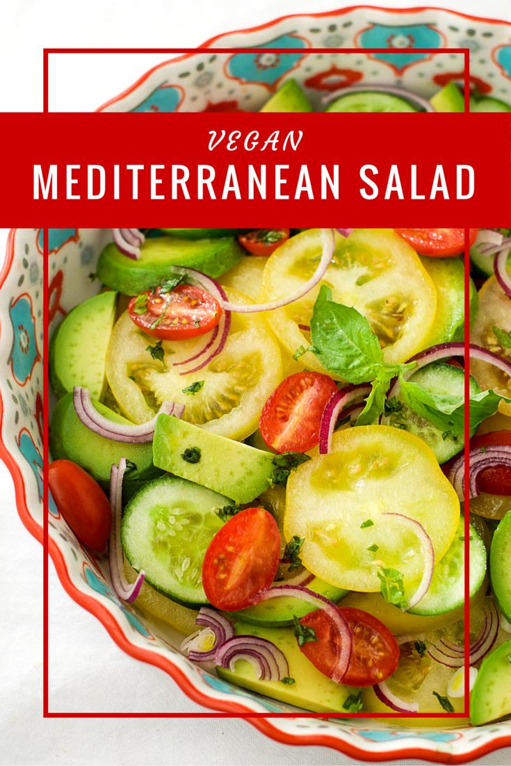 Mediterranean salad {vegan}