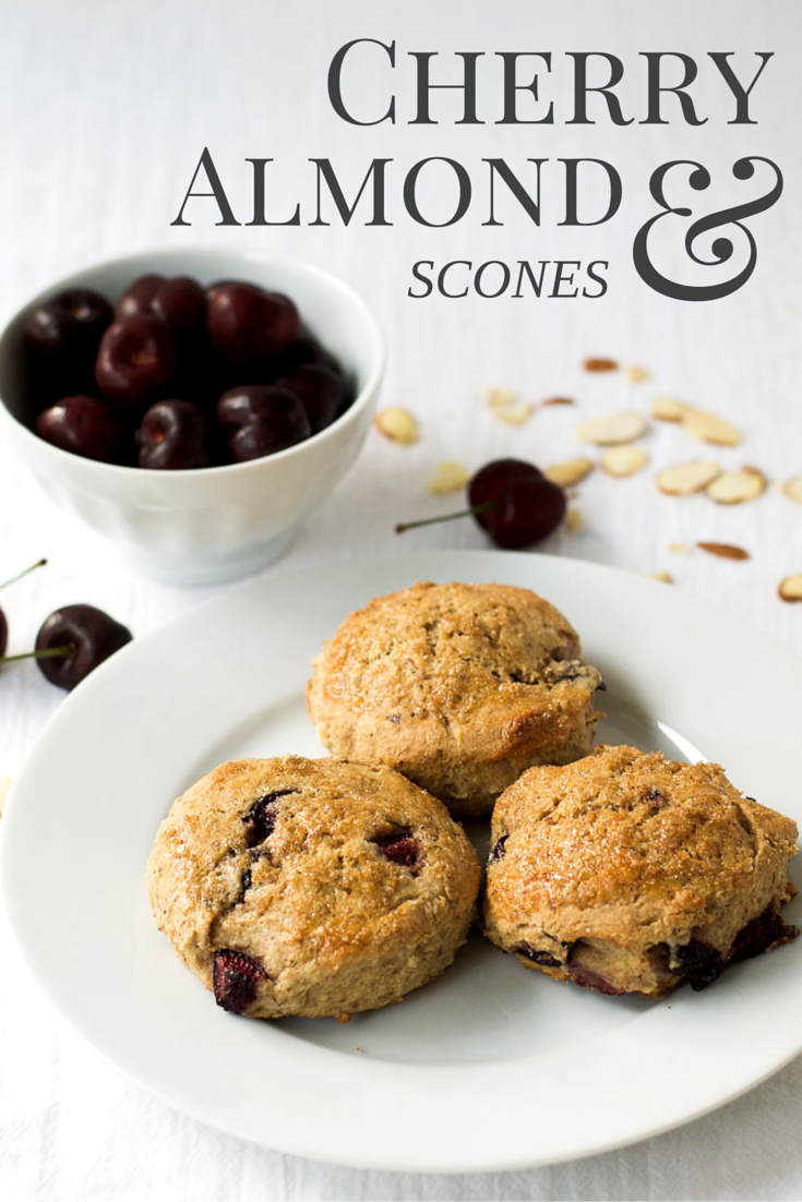 Whole wheat cherry almond scones