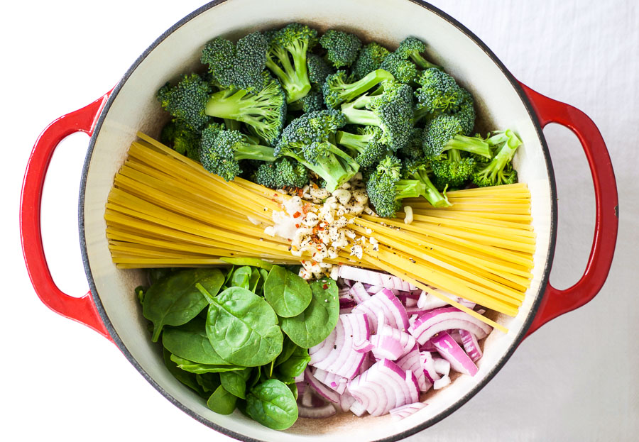 Broccoli Parmesan One Pot Pasta