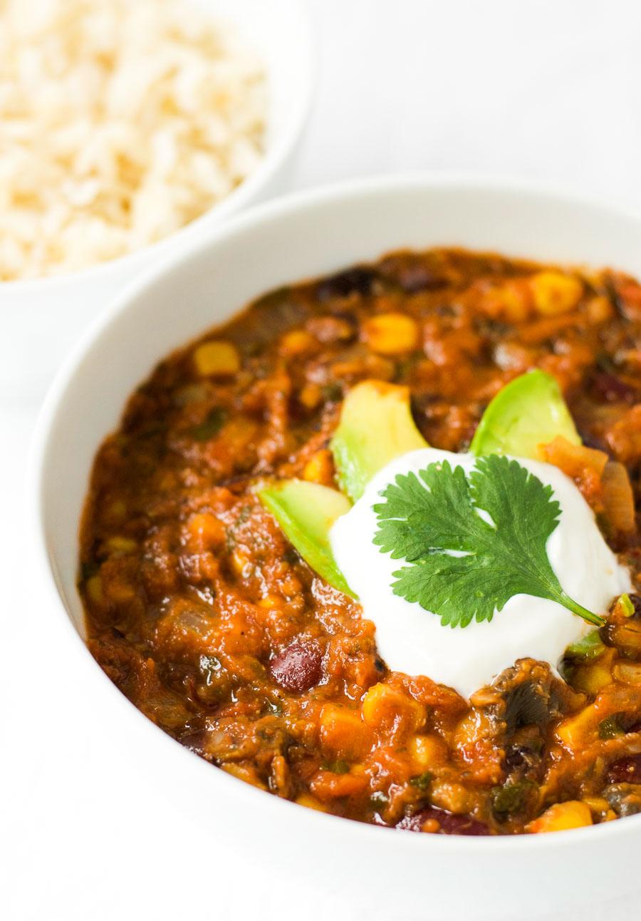 Simple vegan chili