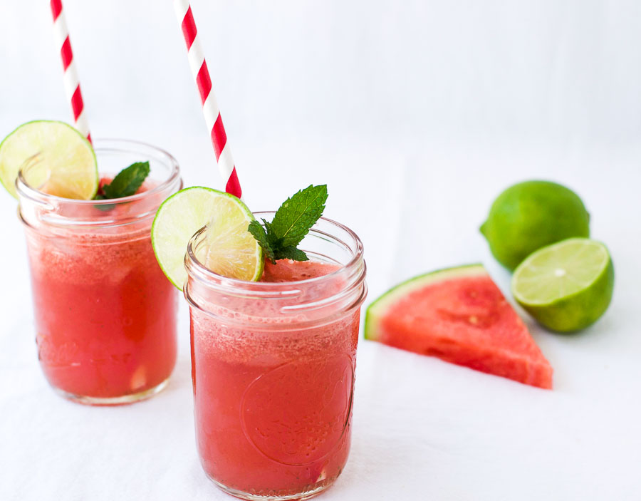 Healthy watermelon agua fresca