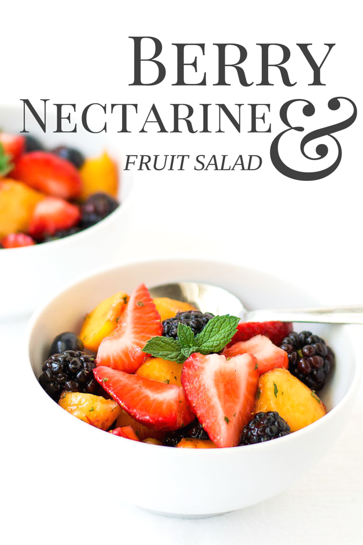 Berry nectarine fruit salad